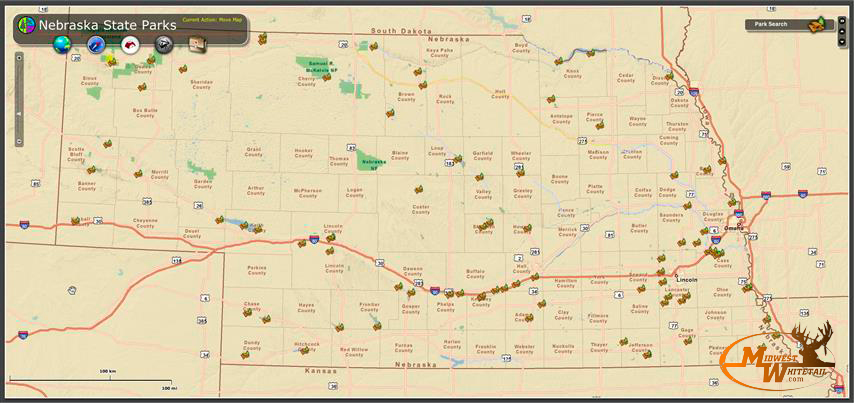 nebraska public land map Nebraska Public Hunting Midwest Whitetail nebraska public land map