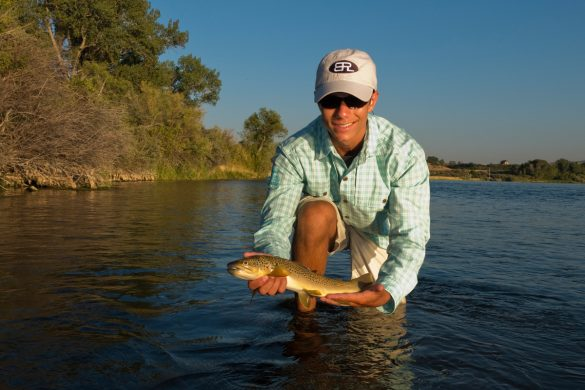 Drew with a dandy brown that he caught on the first evening of the trip.  The morning fishing proved to be much better on this trip.